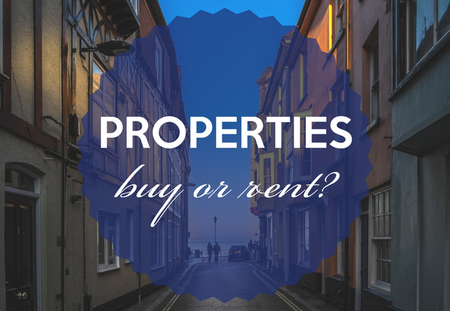 Rent or buy a property? Weighing up your options…