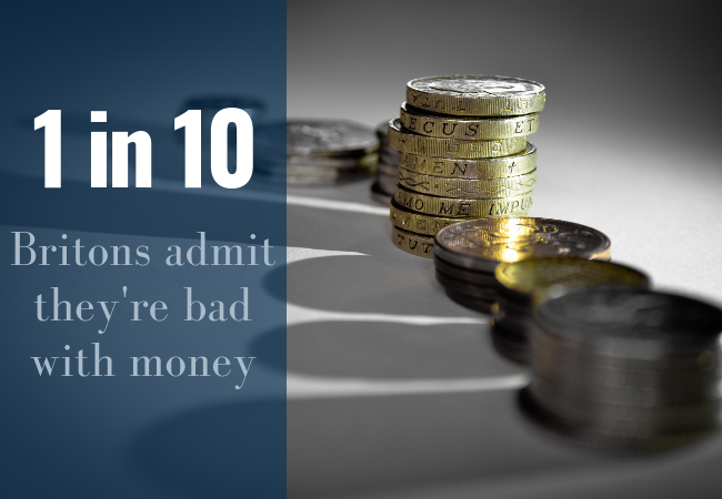 1 in 10 Britons admit they're bad with money